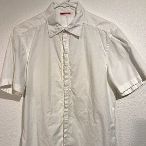 PRADA- Fitted Short Sleeve Button Down
